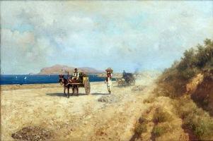 Alcune opere esposte nella Mostra Di là del faro. Paesaggi e pittori siciliani dellottocento. F.Lojacono Estate o Sulla via di Romagnolo